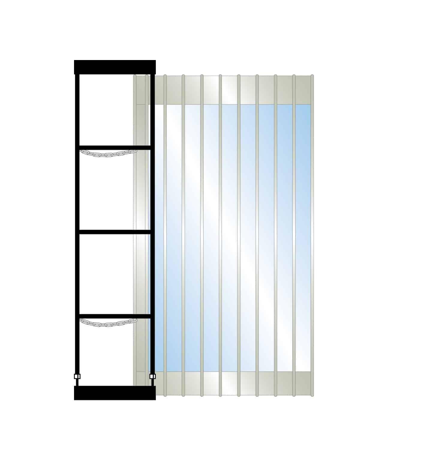 Ez Side Folding Security Grille Commercial Dynamic Closures