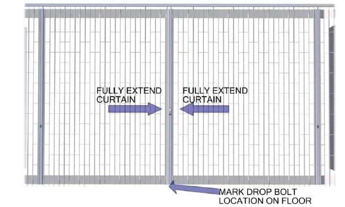 Bipart Posts Pulled Together Security Door