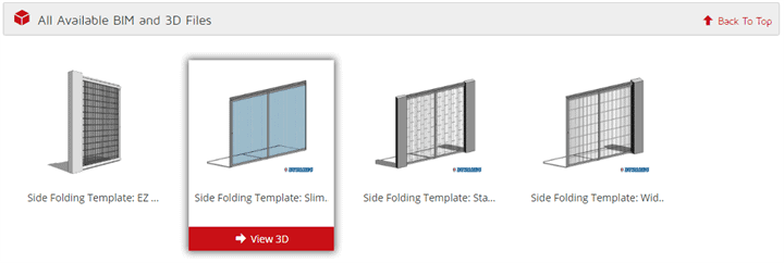 3D CAD Files For Side Folding Security Doors