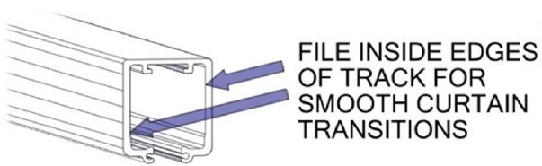 Filing Edges of Track Smooth