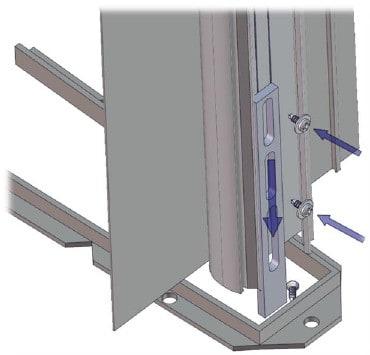 Floor stop and retaining screws