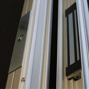 maglock on security grille door