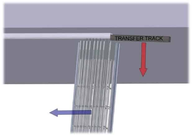Sliding curtain onto ceiling track