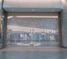 storefront security overhead rolling door